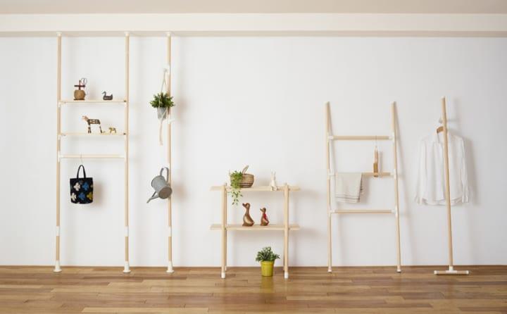簡単に家具を作れる無限大パーツ 平安伸銅工業から「LABRICO丸棒シリーズ」が発売