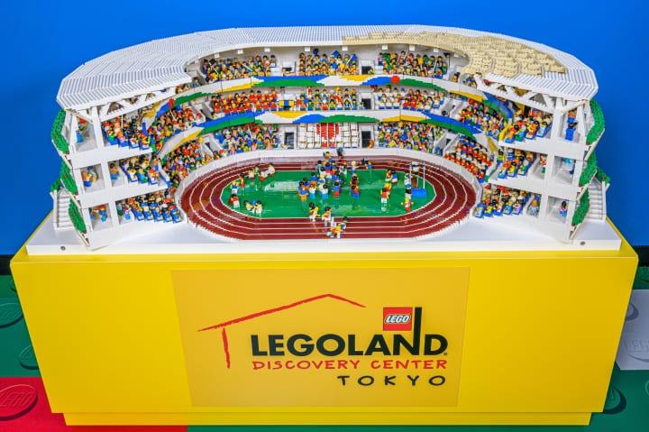 2万3千個のブロックでできた「レゴ®の新国立競技場」 レゴランド®・ディスカバリー・センター東京に登場
