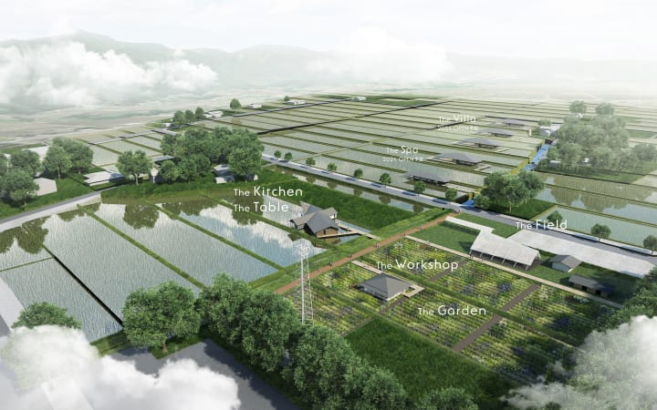 隈研吾設計の富山・立山町の複合施設「ヘルジアン・ウッド」 オープンに先駆けユニオンランチがユニフォー…