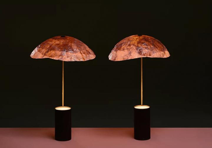 赤キャベツを使ったテーブルランプ「Veggie lights」 Nir Meiri Studioが持続可能なデザインを探求