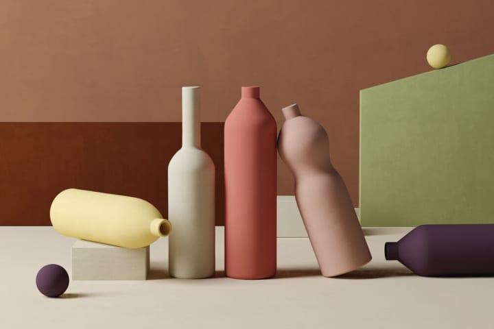 インテリアブランド「Goodmoods Éditions」による カラフルなボトルシリーズ「La Consigne」