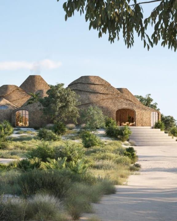 モザンビークの高級リゾート地「Kisawa Sanctuary」 藁ぶきのバンガローは地元の素材を3Dプリント