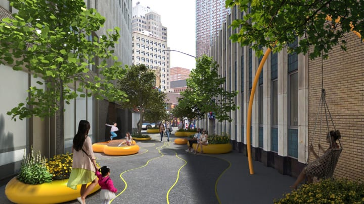BIGがニューヨークで新プロジェクトをスタート 歩行者が楽しめる「Downtown Brooklyn Public Realm」