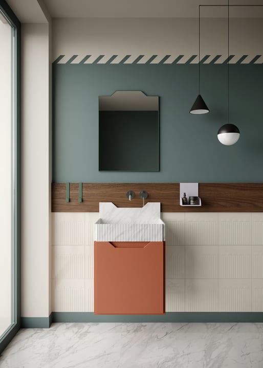 バスルームブランド「ex.t」のためにデザインした Marcante-Testaによるバスルームコレクション「FRIEZE」