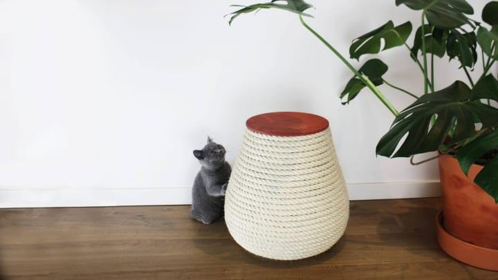 猫と人間のことを考えたスツール ベルギーのデザインユニット・Krabによる「Vonk」