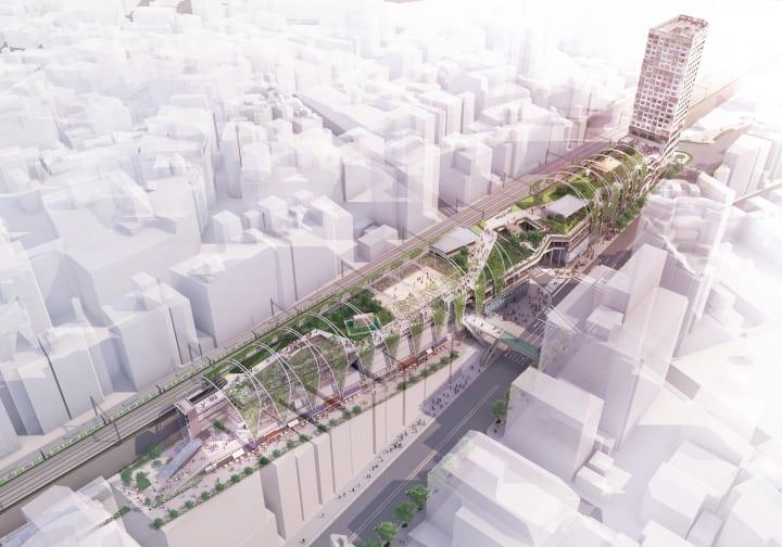 宮下公園が「MIYASHITA PARK」としてオープンへ 渋谷周辺エリアをつなぐ全長約330mの立体都市公園