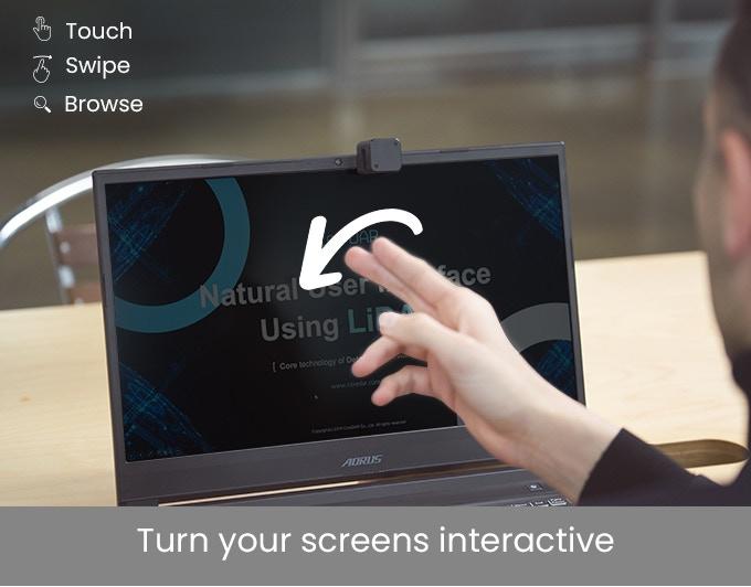 自宅やオフィスの画面をタッチスクリーンに 変える小型デバイス「Glamos」が登場