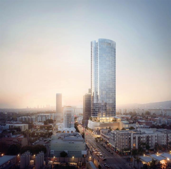 ロサンゼルスのウィルシェア・ブールバードに建設予定の アールデコ調の高層タワー「5411 Wilshire」