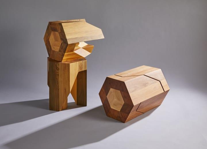 組み木にインスパイアされた多機能スツール Yoshiaki Itoデザインの「Yosegi Stool」
