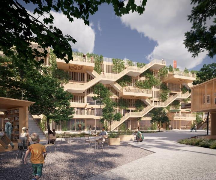 デンマークで初の木造駐車場がオーフスに建設へ 緑豊かでクリエイティブなスペースも併設
