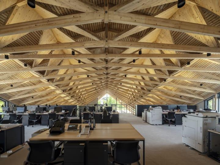 UENOAが設計を手がけた 宮城県の建築用ビスメーカー・シネジックの新社屋