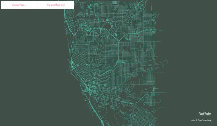 世界中の都市を線描にするツール ソフトウェア開発者のAndrei Kashchaが公開
