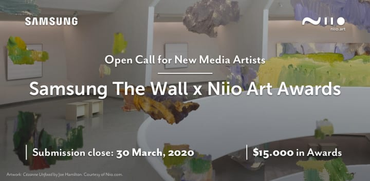 「Samsung The Wall x Niio Art Awards」開催 サムスンの大型テレビを使ったデジタルアートコンペ
