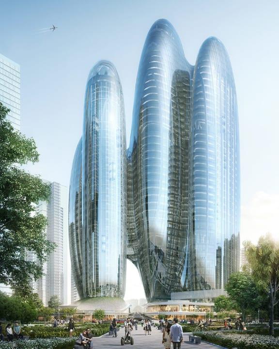 深圳で建設計画中のOPPO 新本社ビル Zaha Hadid Architectsが設計を担当