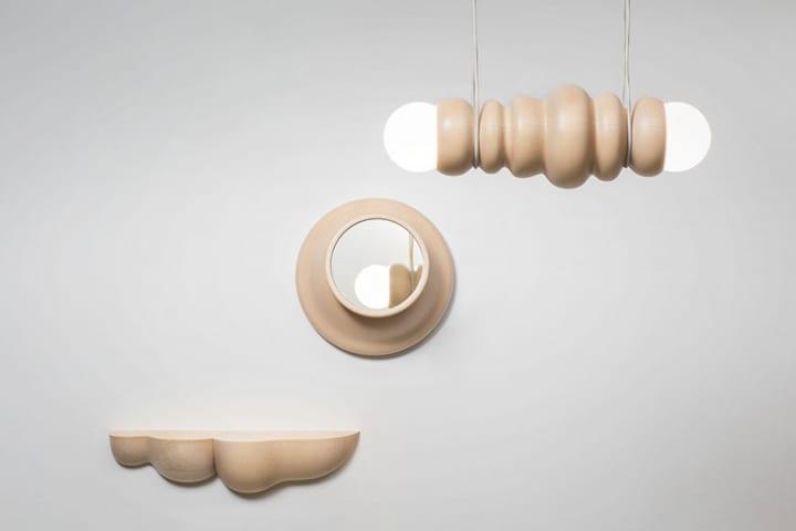 Studio Sainが手がける「Bulbous」 ろくろ細工の木工品によるインテリアコレクション