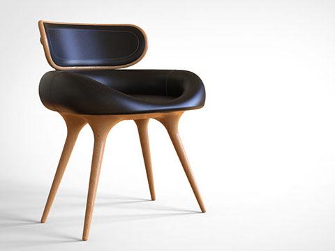 椅子より床に座るイランの習慣に合わせたチェア Arsalan Ghadimiによる「Lunule」