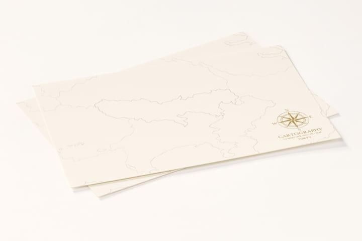 大人のための白地図「カルトグラフィー」から 限定デザインの「トーキョー」が登場