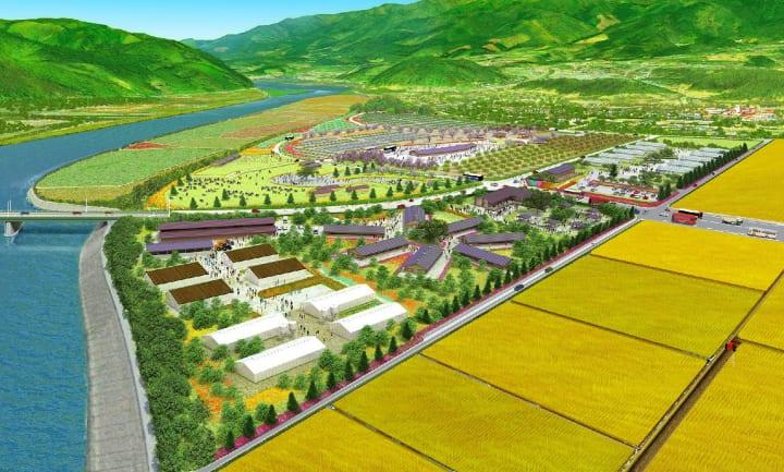 陸前高田「ワタミオーガニックランド」 隈研吾が設計する日本最大級の野外音楽堂を建設へ