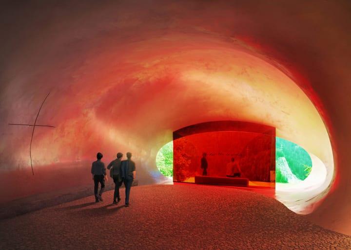 高速道路わきの新しい礼拝堂の設計案 ヘルツォーク&ド・ムーロンによる「Autobahnkirche」