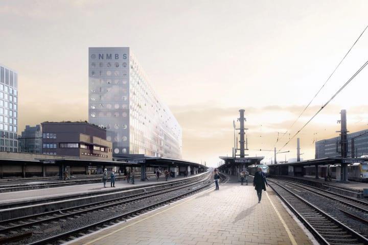 OMAがベルギー国鉄新本社ビルを設計へ 現代のブリュッセルがもつ「2つの顔」を強調