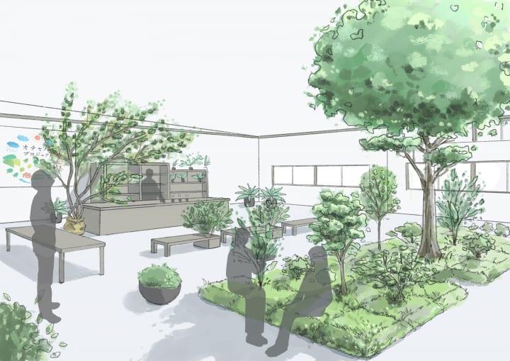 ISIDによる自律移動ロボットを用いた「動く植栽」 公開実証実験を東京・新木場で実施