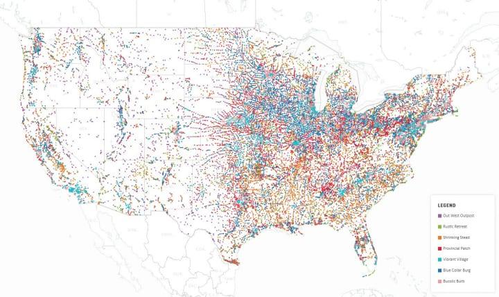 アメリカを象徴する「スモールタウン」の実情を可視化 ユニークな研究分野「Townology」が分析結果を発表