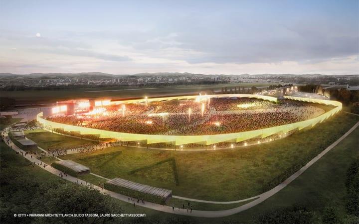 イタリアの人気ミュージシャンに捧げる 野外コンサート会場「RCF Arena」がオープンへ