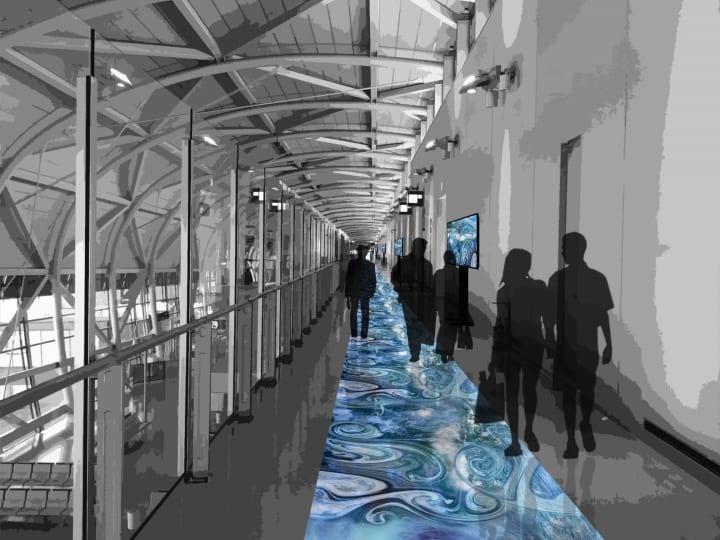 関西国際空港で「瀬戸内」をテーマに メディアアートを展示する「DEEP JAPAN」が開催