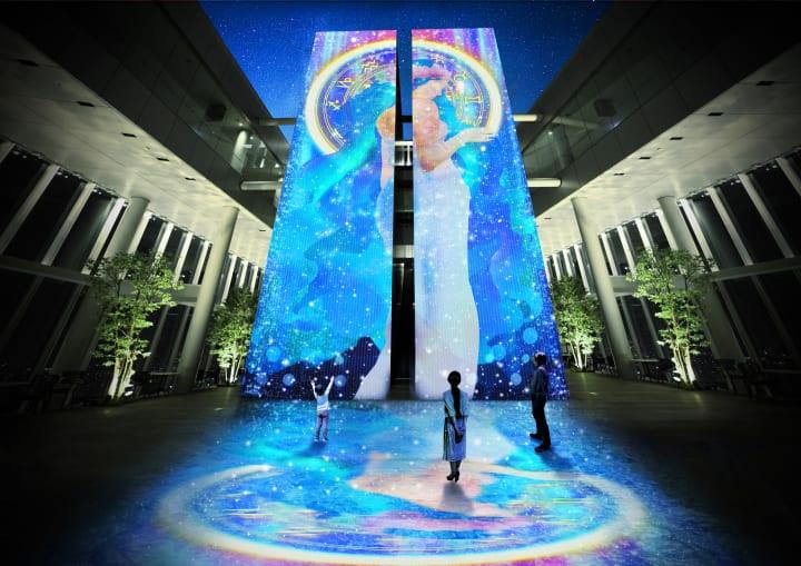 ネイキッドと大阪芸術大学がコラボ プロジェクションマッピングがあべのハルカス展望台で上映