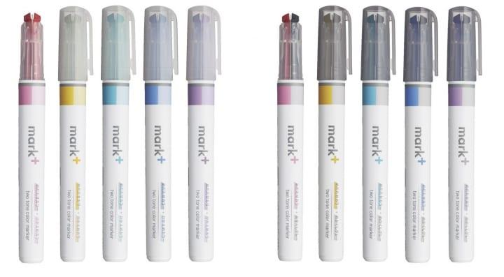 コクヨから2トーンカラーマーカー「マークタス」登場 ノートにまとまり感がでる2色を1つのペン先に採用