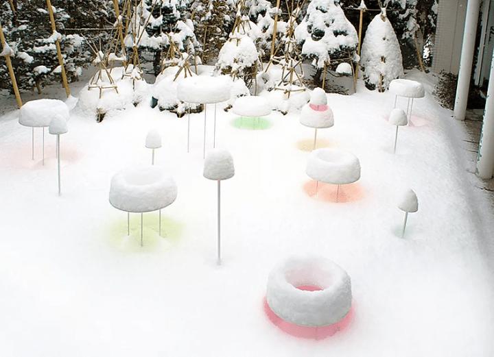 美術家・澁谷俊彦が札幌で手がける 冬のランドアート「Snow Pallet 12」が公開中