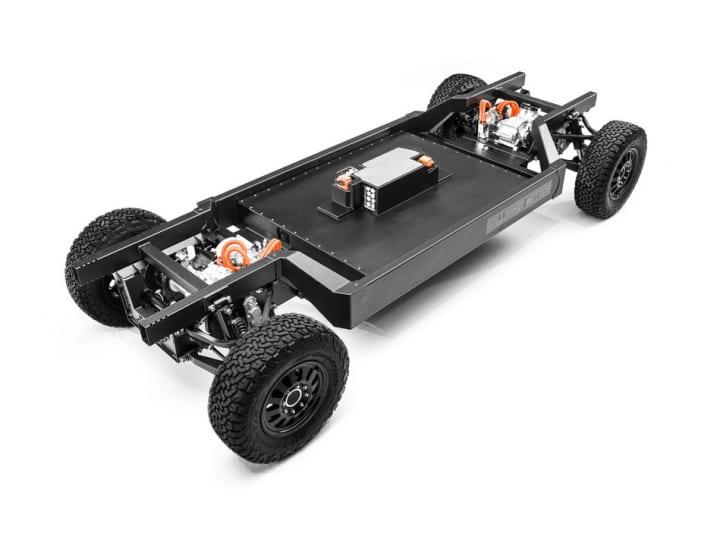 電動トラックのスタートアップ「Bollinger Motors」 汎用性のある「Eシャシー」を公開