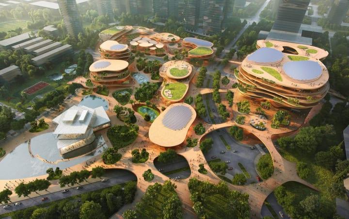深圳の新施設「Shimao ShenKong International Centre」 サステナビリティを考えたMVRDVの設計案