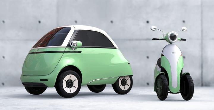 スイスの自動車メーカー Micro Mobility Systems 小型EV「Microlino 2.0」と電動スクーター「Microletta」…