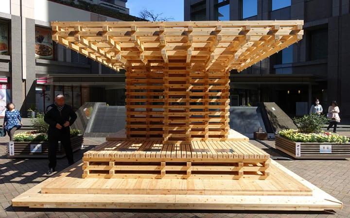 日建設計、ゼロエネルギーの木製クールスポット 「COOL TREE LITE」を東京・飯田橋に初設置