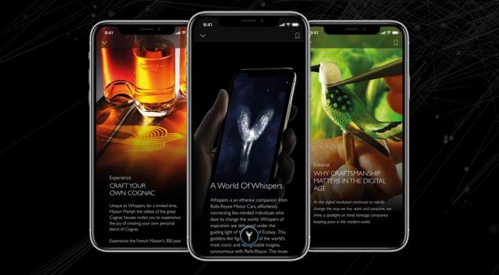 ロールス・ロイスのアプリ「Whispers」が登場 オーナー限定でラグジュアリーな製品・体験を提供