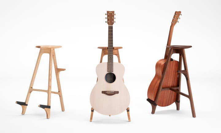 ギタースタンドとしても使える ヤマハがデザインしたスツール「solo ...