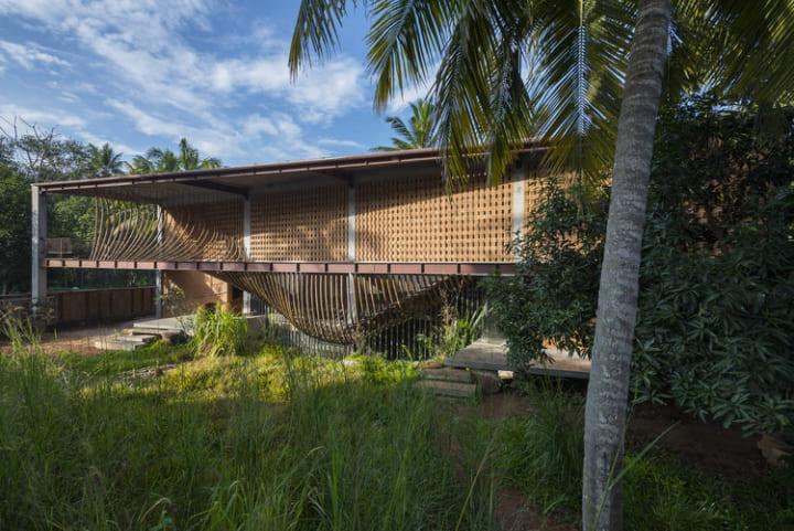 ⽵材や廃材を活用された インド南部の住宅プロジェクト「IHA residence」