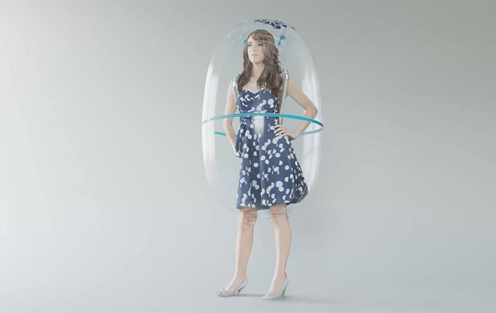 頭から被るバブル状のシールド!? イタリアデザインユニットからコンセプト作品「Bubble Shield」が公開