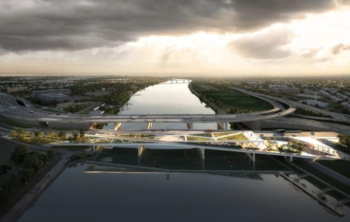 米ワシントンD.C.に新しい公共スペース「11th Street Bridge Park」 建築設計事務所 OMAがデザイン「X字型…