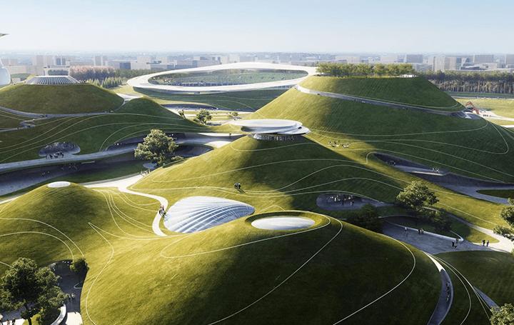 MAD Architectsが手がける「Quzhou Sports Campus」 中国・浙江省衢州市の景観を活かした広大な公共公園