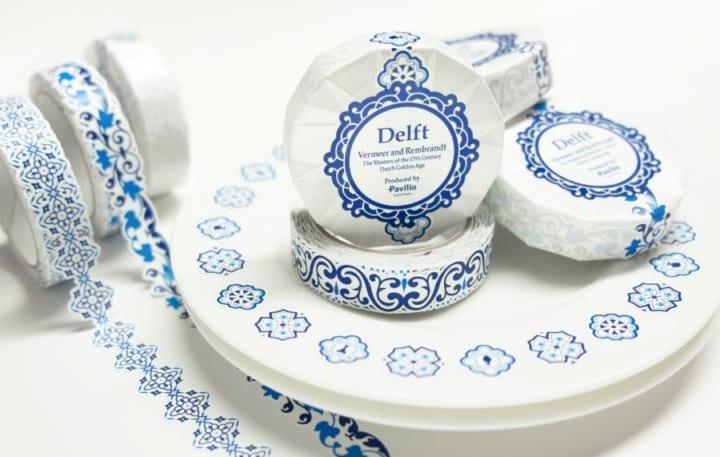 鮮やかなブルーとデルフト陶器模様が特徴 「フェルメールとレンブラント展」のコラボマスキングテープが登場