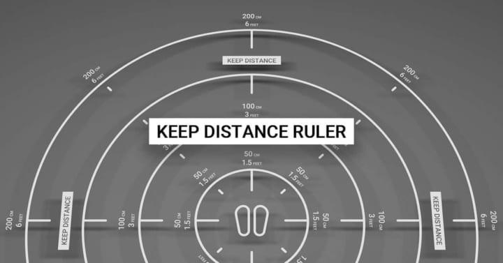 クリエイティブラボPARTYからソーシャルディスタンスを測る AR定規「Keep Distance Ruler」を公開