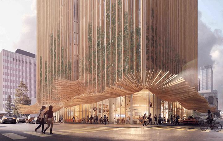 ロサンゼルスで計画中の高層タワー「Sky Trees」 都会の空気をきれいにする建物を目指す