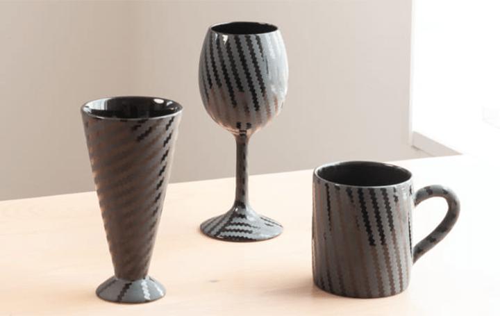 陶芸作家・大和猛が手がけた珍しい技法Carbon patternで 製作した萩焼が「オンライン陶器市2020」に登場