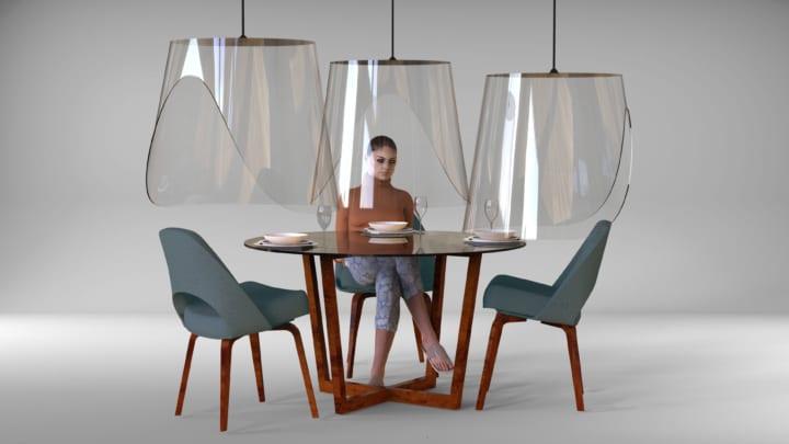 ダイニング中にどうソーシャルディスタンスを確保? フランスのデザイナーが提案するテーブル用シールド「…