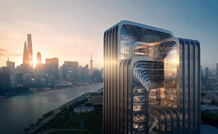 Zaha Hadid Architectsが中国・上海に 市内もっとも優れたグリーンビルディングの設計案を公開