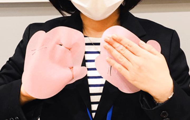 手のひら接触を抑制する ハンドマスク「けっぺきくん」が登場