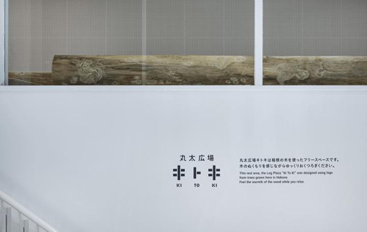 トラフ建築設計事務所が改修を手がけた 箱根彫刻の森美術館内の「丸太広場 キトキ」