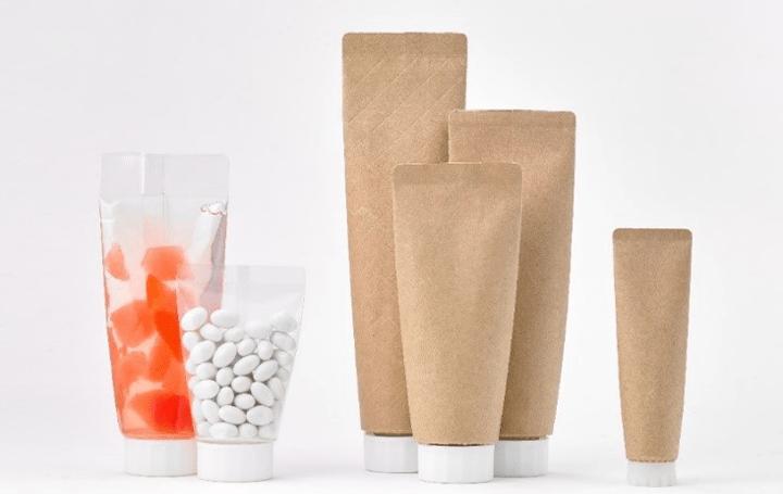 凸版印刷から紙素材のチューブ型パウチを開発 プラスチックの使用量の削減を目指す